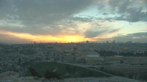 Jerusalem old sunset 2 Footage