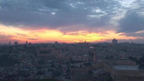 Jerusalem old sunset 6 Stock Video Footage