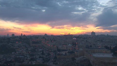 Jerusalem old sunset 6 Footage