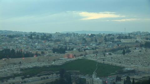 Jerusalem old sunset 8 Stock Video Footage