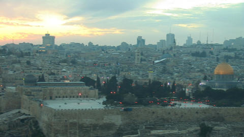 Jerusalem old sunset 8 Footage