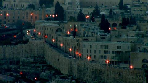 Jerusalem old sunset 10 Stock Video Footage