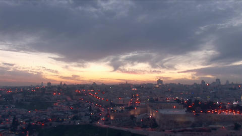 Jerusalem old sunset 12 Stock Video Footage