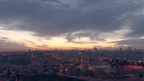 Jerusalem old sunset 12 Footage