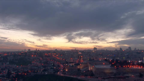 Jerusalem old sunset 12 Stock Video Footage