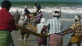 Fishermen pulling a fishing net Footage