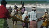Fishermen pulling a fishing net Footage