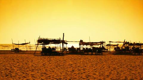 Goa beach at sunset Stock Video Footage