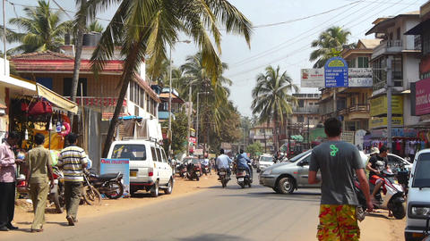 Streets of Goa India Stock Video Footage