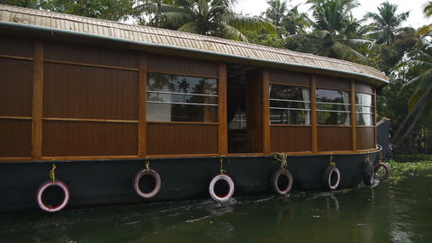 Houseboat Stock Video Footage
