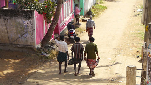 Walking indians men Stock Video Footage