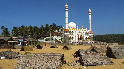 Indian mosque Stock Video Footage