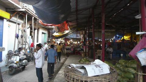 Indian street food market Stock Video Footage