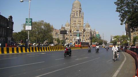 Mumbai India streets Stock Video Footage