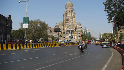 Mumbai India streets Stock Video Footage