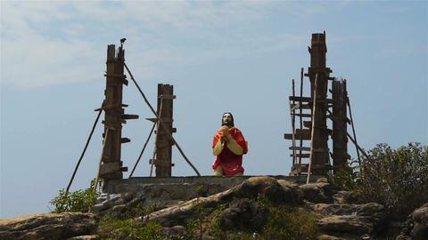 Statue of Jesus Stock Video Footage