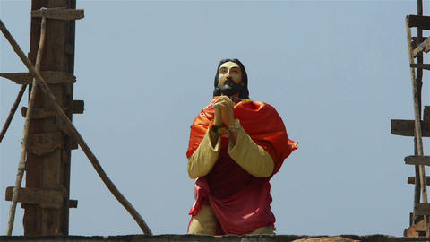 Statue of Jesus Stock Video Footage