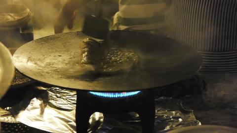 Indian nan maker Stock Video Footage
