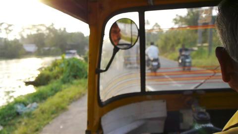 Trip with rickshaw Stock Video Footage