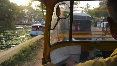 Trip with rickshaw Stock Video Footage