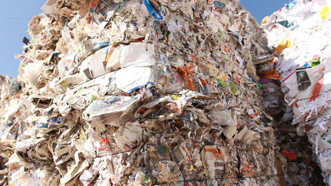 Recycling Paper center environment Ecologic waste Stock Video Footage