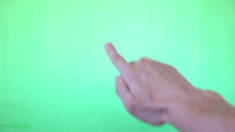 12 Real Hands Touch Gestures Green Screen stock footage