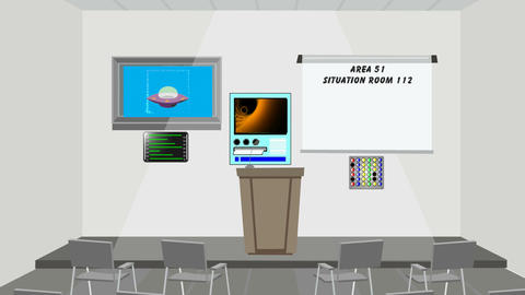 Area 51 Situation Room: Looping Animation