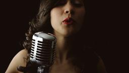 Music woman singer silhouette chorus Footage