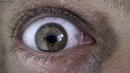 Old man zombie eye macro searching for food Footage