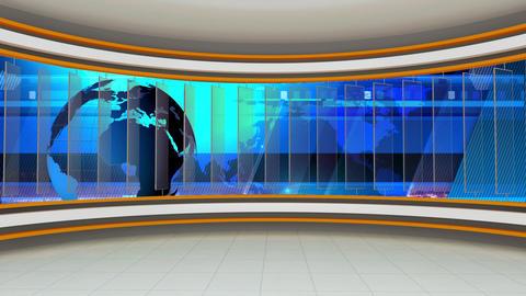 News TV Studio Set 78 - Virtual Background Loop Footage