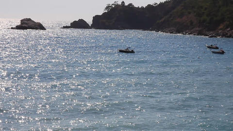 Kabak Beach Seascape Footage