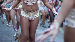 Samba Dancers stock footage