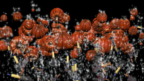 Splash Halloween Pumpkin #3 stock footage