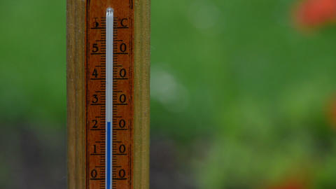 Fast rise temperature on wood thermometer scale exceed 30 degree Footage