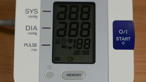 blood pressure measure tool electronic screen and number vary Footage