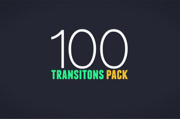 100 Transitions Pack After Effects Template