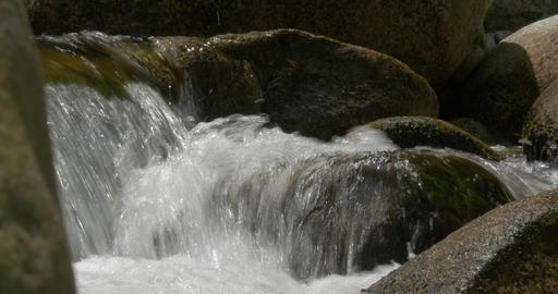 4K, flowing and splashing water closeup Footage