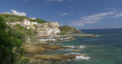 4K, Marine de Pietracorbara, Corsica, France Filmmaterial