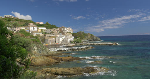 4K, Marine de Pietracorbara, Corsica, France Stock Filmmaterial