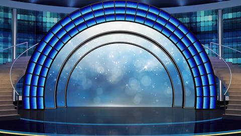 Entertainment TV Studio Set 21-Virtual Background Loop Footage