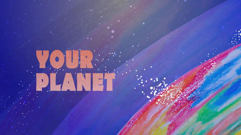 Planet and sea After Effects Template