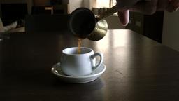 Serve The Greek Coffee stock footage