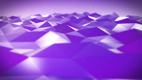 Live Pulsing Low Poly Environment Purple 4K Animation