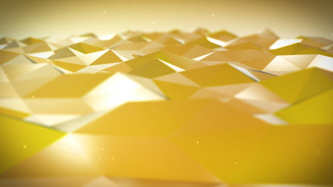 Live Pulsing Low Poly Environment Yellow 4K Animation