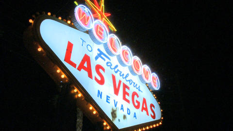 Welcome to Vegas sign - low angle (3 of 5) Footage