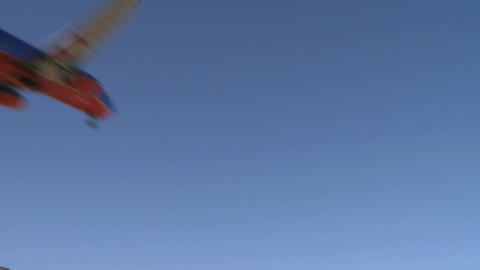 Airplane flies by lens (4 of 4) Footage