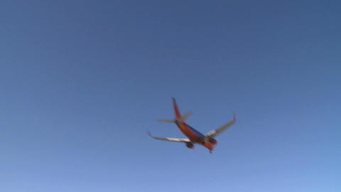 Airplane Flies By Lens (3 Of 4) stock footage