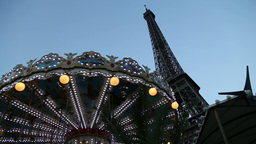 Carousel In Paris stock footage