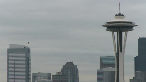 Seattle's Space Needle - medium zoom in Live Action