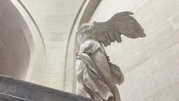 Close Up The Winged Victory Of Samothrace stock footage